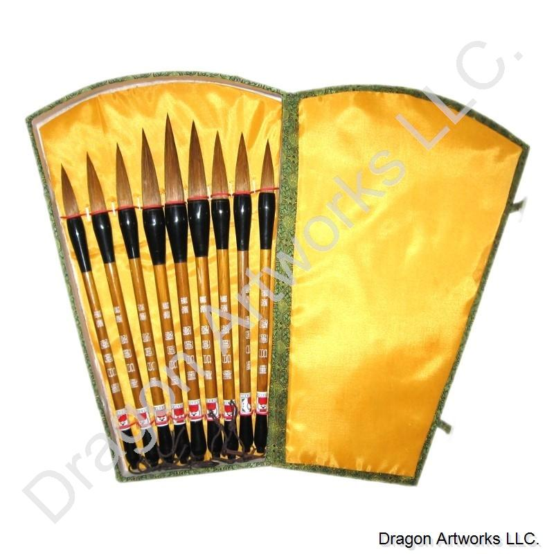 Nine brushes chinese calligraphy brush set Chinese calligraphy brush