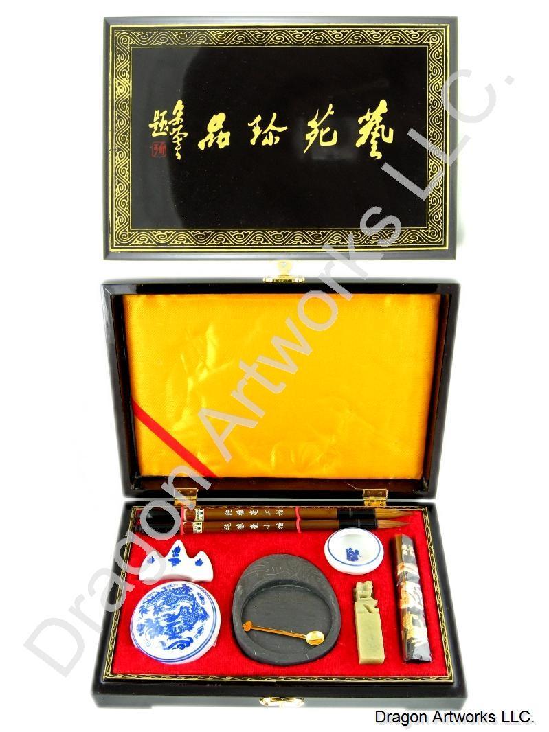 Premium small chinese calligraphy set