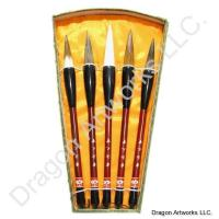 Five Brush Chinese Calligraphy Brushes Set