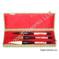 Three Large Chinese Calligraphy Brushes Set