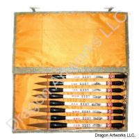 Eight Immortals Chinese Calligraphy Brush Set